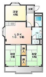 愛知県名古屋市天白区福池1丁目の賃貸マンションの間取り