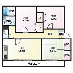 亀川駅 6.5万円