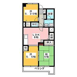 プランティーヌ高崎[5階]の間取り