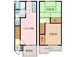 [テラスハウス] 三重県松阪市山室町 の賃貸【/】の間取り