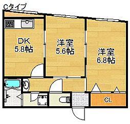 イマツアパート[2階]の間取り