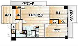 メゾンド・ファミーユ門司港[5階]の間取り
