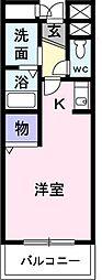 東京都東久留米市大門町2丁目の賃貸マンションの間取り