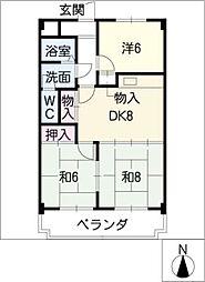 ガーデンヒルズキヨス[2階]の間取り