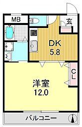 レジデンス平野[2階]の間取り