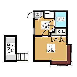 VILLA北根[2階]の間取り