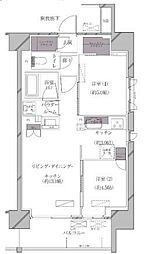 JR山手線 田町駅 徒歩11分の賃貸マンション 3階2LDKの間取り