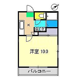 メゾンド・パルルII[1階]の間取り