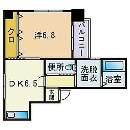 PADORE 3階1DKの間取り