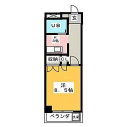 フォーブル三里[5階]の間取り