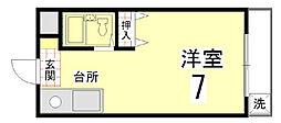 ヤスミマンション[303号室]の間取り
