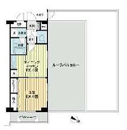 桜木町堂ノ下マンション 6階1Kの間取り