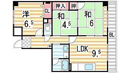 ディアコートニシカワ[203号室]の間取り