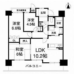 ソワール新檜尾台[13階]の間取り