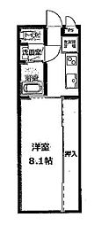 名鉄名古屋本線 栄生駅 徒歩5分の賃貸アパート 2階1Kの間取り