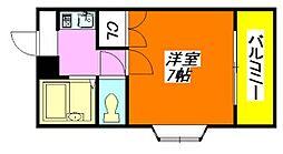 エバグリーン布施[2階]の間取り