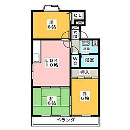松月マンション[4階]の間取り