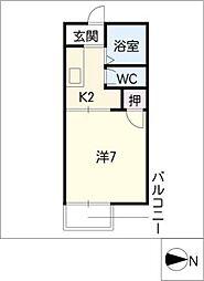上飯田南町ハイツ[1階]の間取り