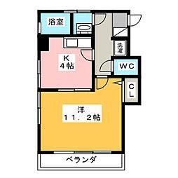 愛知県名古屋市瑞穂区南山町の賃貸マンションの間取り