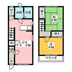 [テラスハウス] 静岡県掛川市大池 の賃貸【/】の間取り