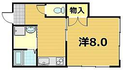ハイツイソガワ[3階]の間取り