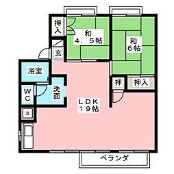 CASADE12[2階]の間取り