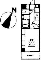 メゾン・アンソレイユ[205号室]の間取り