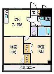 東京都足立区西綾瀬4丁目の賃貸マンションの間取り