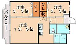シーベルNishida[4階]の間取り