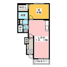 サニーハウス II[1階]の間取り