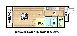 オリエンタル小倉南壱番館[5階]の間取り