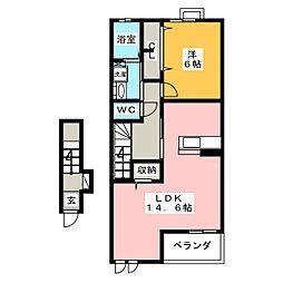 南小泉4丁目アパート[2階]の間取り