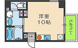 シーサ11 4階ワンルームの間取り