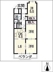 瑞穂センチュリーマンション1410号室[14階]の間取り
