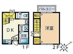 セーブル六本松南 1階1DKの間取り