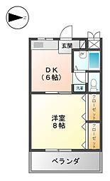 アベニュー22[8階]の間取り