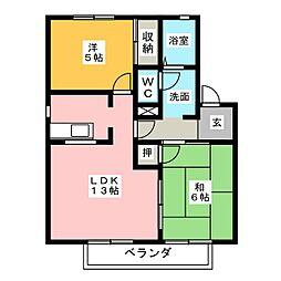 グリーンタウン南棟[2階]の間取り