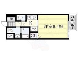 サムティ姫島LUMETO 1階1Kの間取り