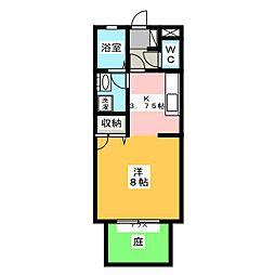 プレイヤード北長瀬 A棟[1階]の間取り