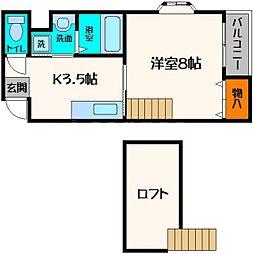 メゾンクレアスタイル[3階]の間取り