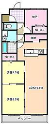 三重県四日市市大井手3丁目の賃貸マンションの間取り