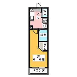 アドレスパーク武蔵小杉 1階1Kの間取り