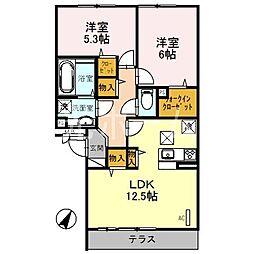 BLOCK−K[3階]の間取り