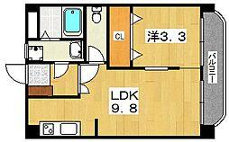 木村マンション[1階]の間取り