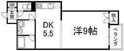 京都府京都市下京区本上神明町の賃貸マンションの間取り