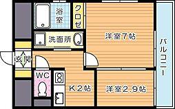 アベニュー黒崎[2階]の間取り