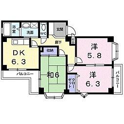 レジデンス大高台[0201号室]の間取り