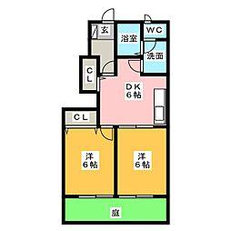 プレジオ21[1階]の間取り
