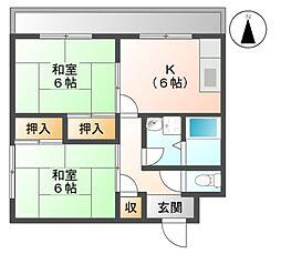 滋賀県彦根市外町の賃貸マンションの間取り