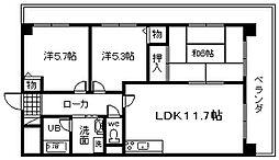 ドミール川崎[401号室]の間取り